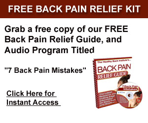 Free Back Pain Relief Kit