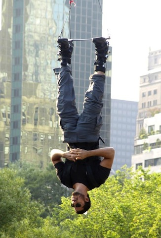 David Blaine inverting for 60 hours!