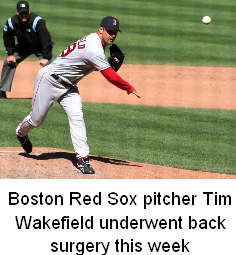Tim Wakefield Back Surgery
