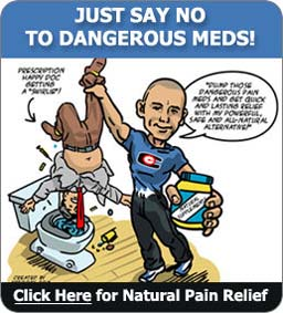 Cartoon ad for dangerous pain medications