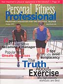 back pain specialist Jesse Cannone featured in Personal Fitness Professional Magazine
