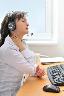 telephone worker neck pain
