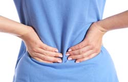 hands on lower back pain