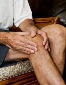 man with arthritis pain