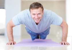 Mature Man Pushups