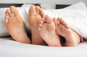 Sleeping Couple's Feet