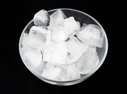 Bowl of Ice for Pica Eater