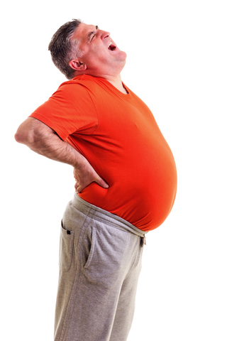 back pain and weight gain