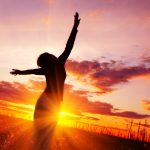 Woman on sunset