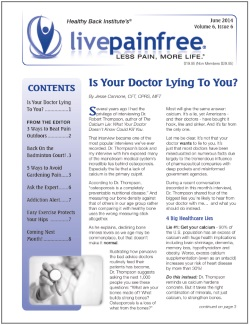 Live Pain Free Newsletter