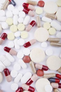 pills and capsules spread out