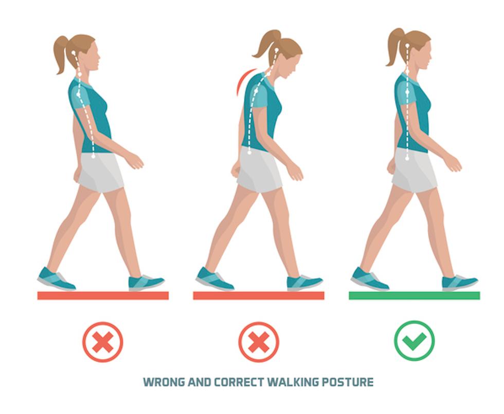 correct walking posture